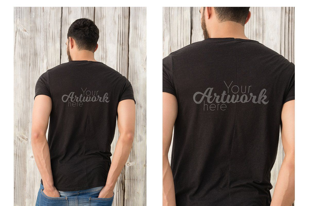 Man With T Shirt Handsome Shirts Presentation Design Template Fashion Graphic Design