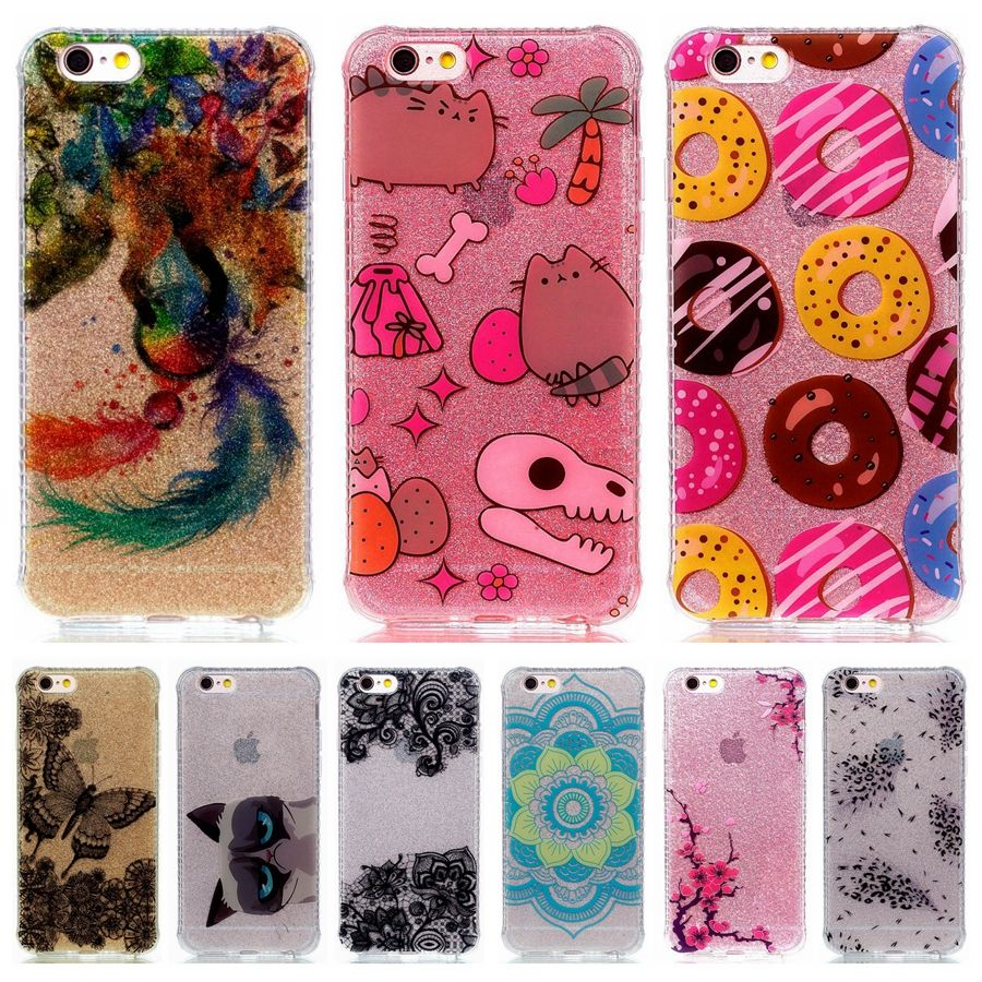 Glitter Powder Case 5.5For Apple iPhone 6 6S Plus case For iphone 6 6S Plus cover 6 s 6plus Bling Sparkling Silicone Soft Cases