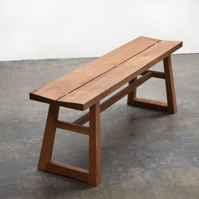 Pin By Cody Wilson On Indoor Bench In 2021 Solid Wood Benches Modern Wood Bench Wood Bench