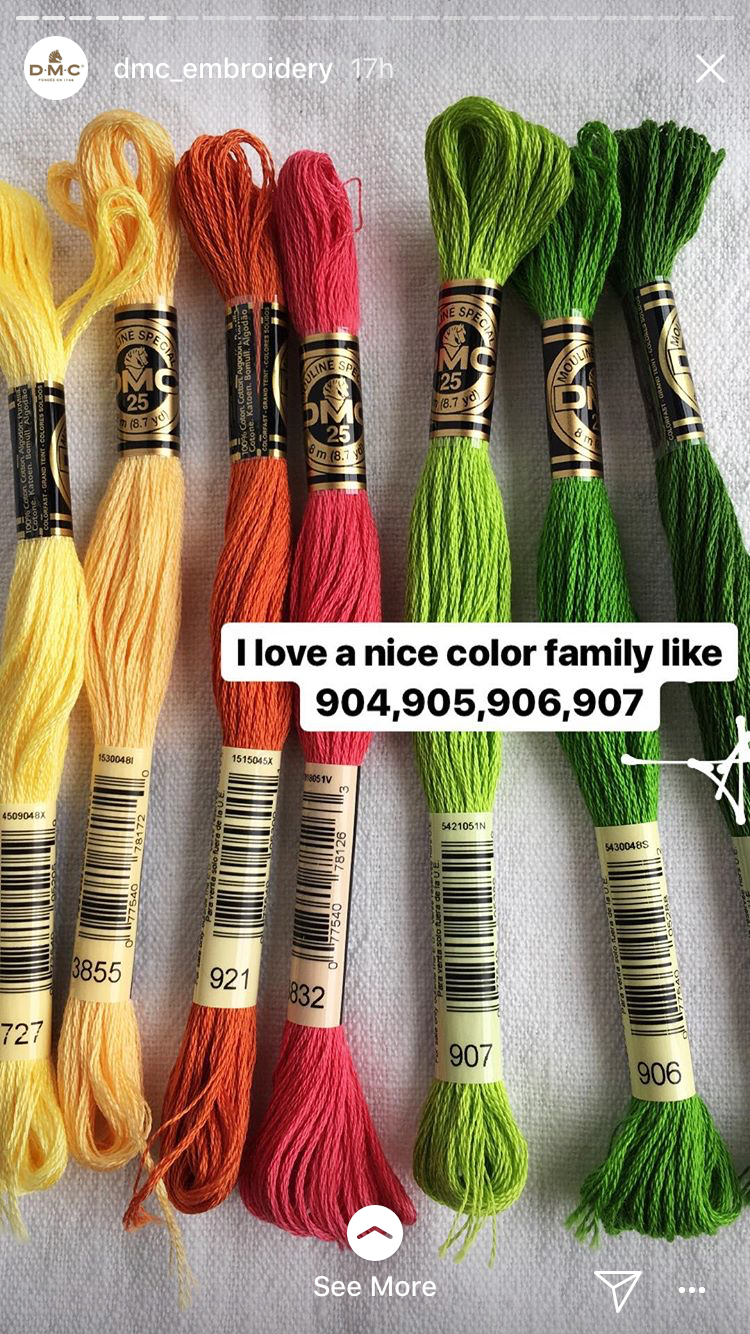 Dmc color family (dmc instagram story) | DMC Color Combinations ...