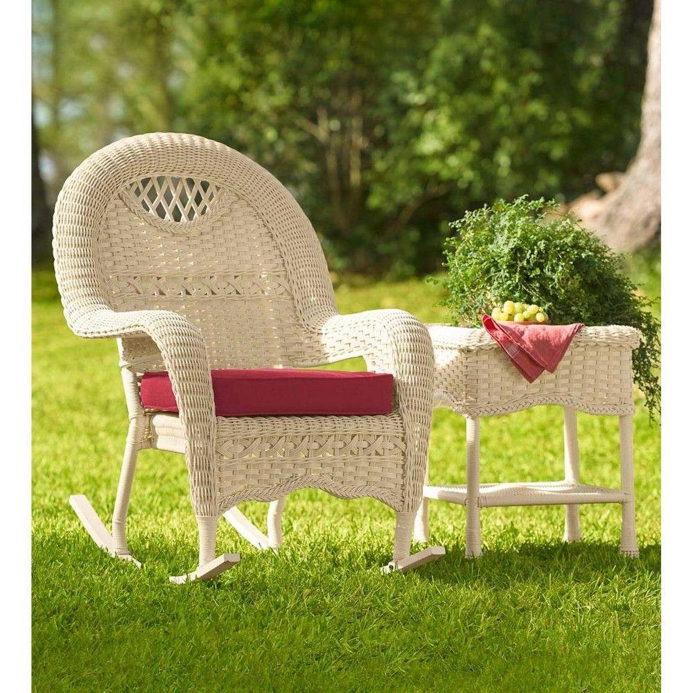 Brilliant Prospect Hill Hand Woven Wicker Rocker Cloud White Plow Machost Co Dining Chair Design Ideas Machostcouk