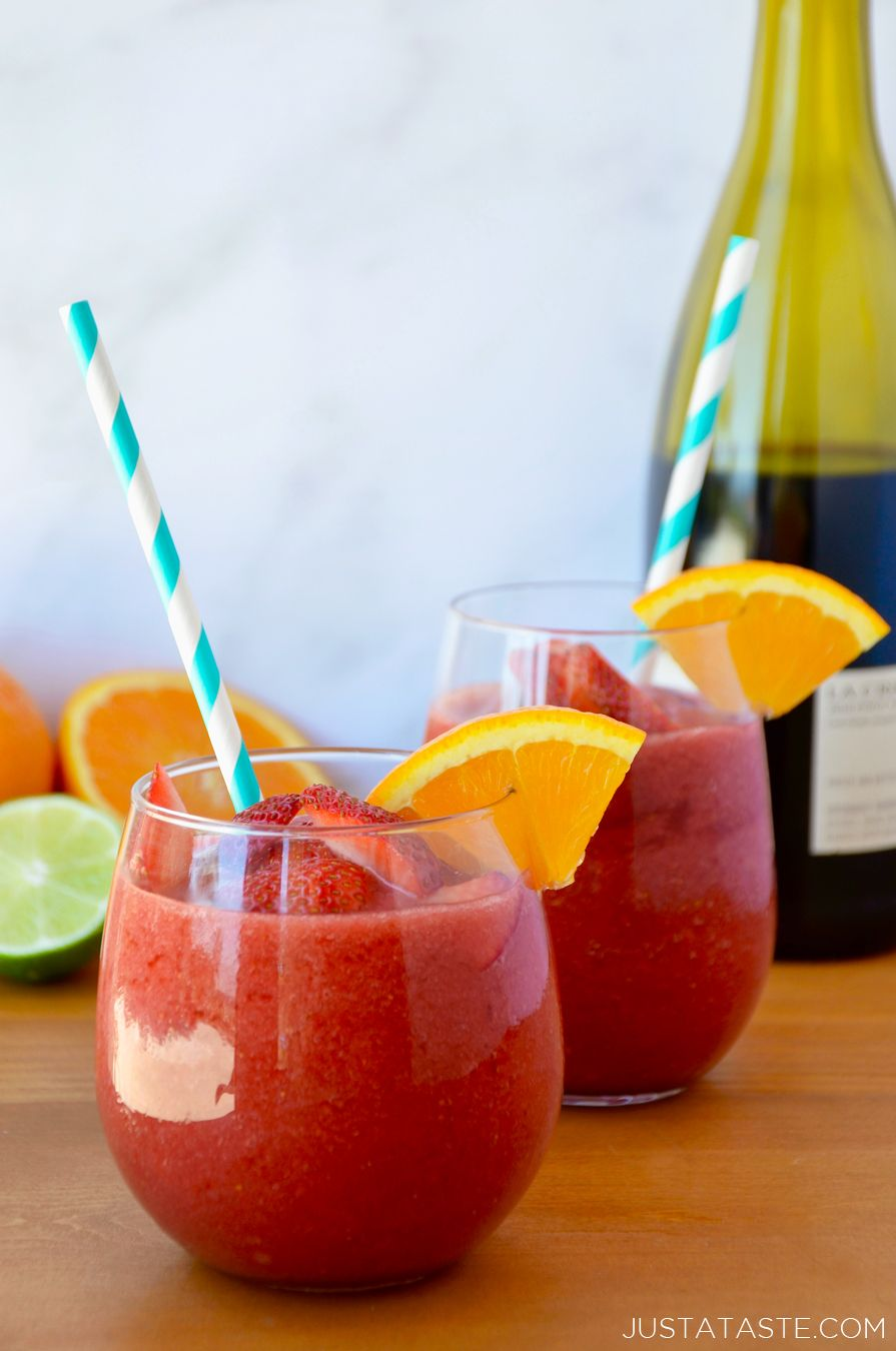 Beat The Heat With A Refreshing Recipe For The Best Frozen Sangria Loaded With Fresh Fruit Recipe From Frozen Sangria Sangria Recipes Mixed Drinks Recipes