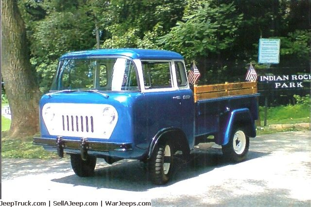 1959 Willys Jeep Fc150 4wd Pick Up Beautifully Restored To Original Paint Cream Blue Interior Cream Blue Wh Willys Jeep Jeep Parts For Sale Used Jeep
