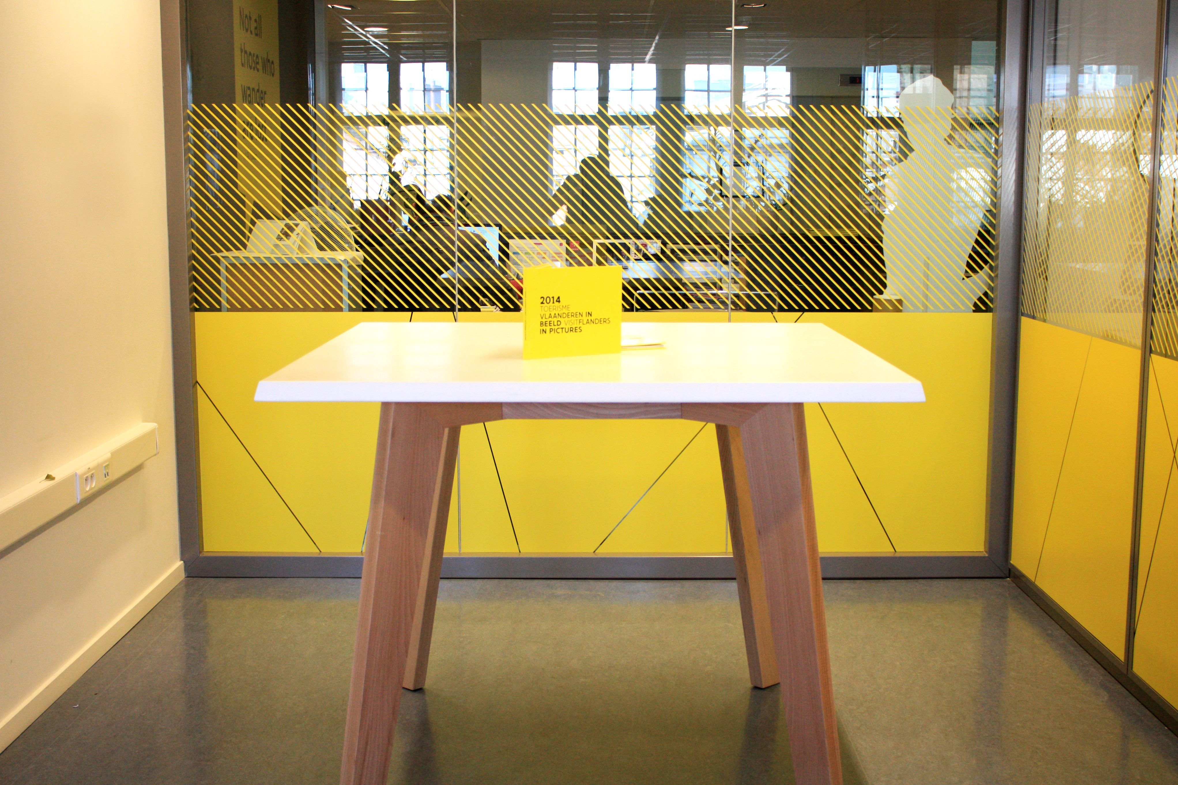 Standup Meeting Table At HQ Brussels Visitflanders Design By - Stand up meeting table