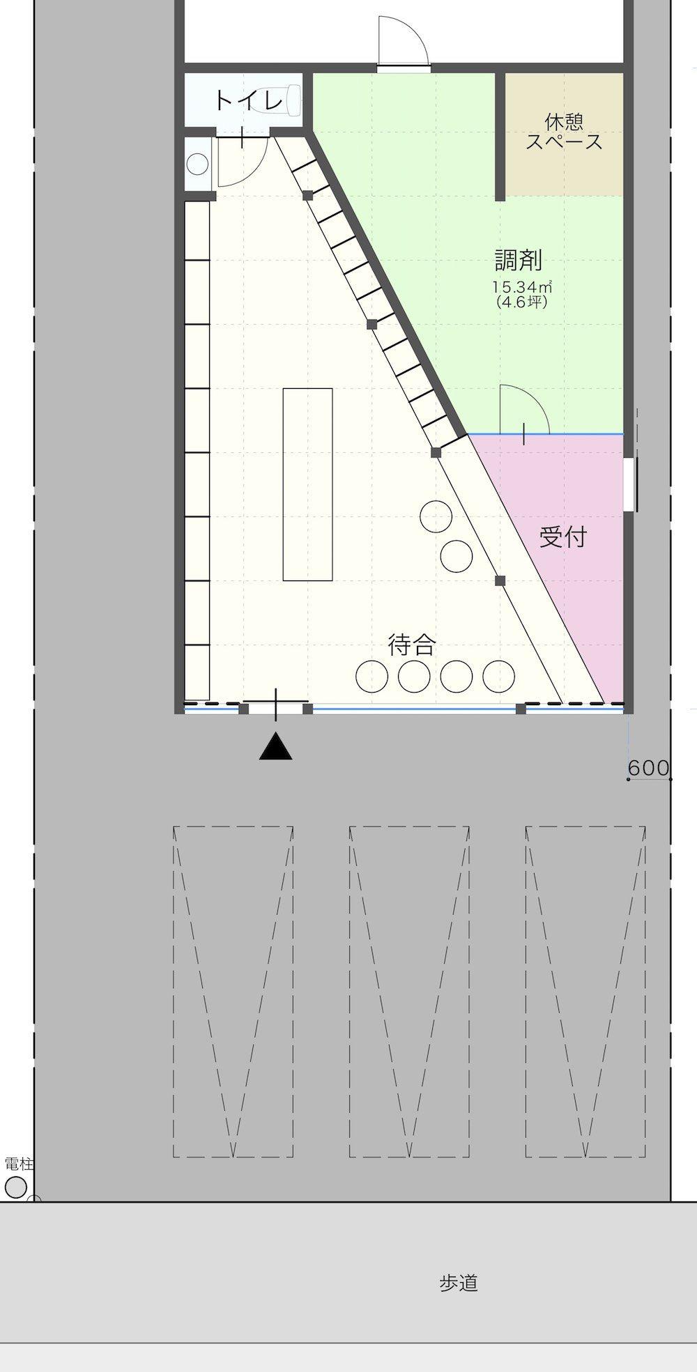 調剤薬局店舗の内装間取りプラン設計図 北島建築設計事務所 調剤薬局 薬局 間取り