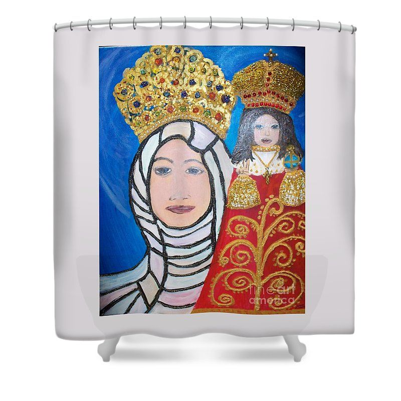 Pin By Geraldine Soileau On Catholic Shower Curtains Catholic Folk Art Queen Mother Framed Prints