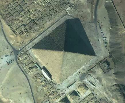 Sky View Of The Great Pyramid Great Pyramid Of Giza Pyramids Of