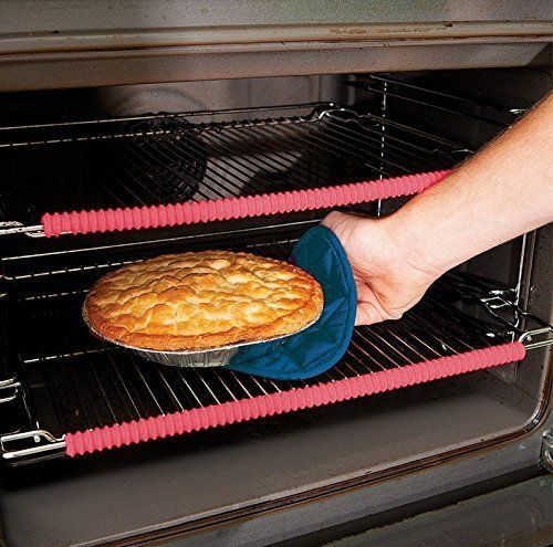 Oven Rack Guard Silicone (2 Pack) Oven Guard Liner Height Resistant for Burn Protection Pink