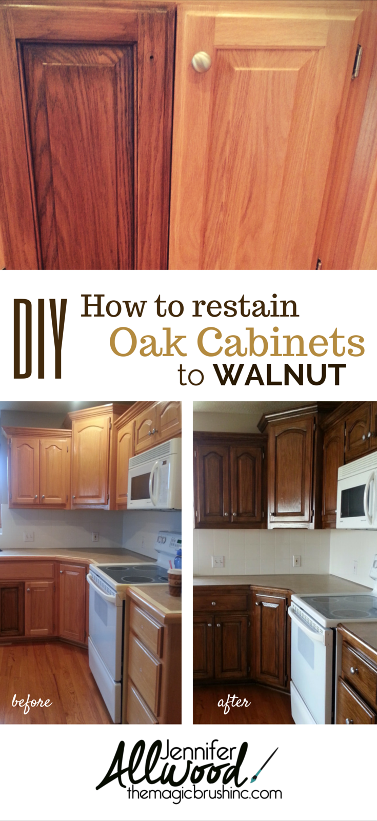 Stained Walnut Cabinets