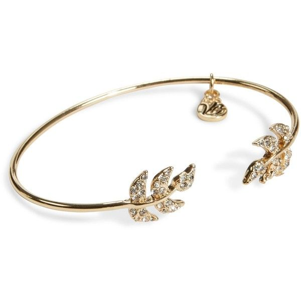 Vera Bradley Pavé Leaf Bracelet In Gold Tone 28 Liked On Polyvore Featuring