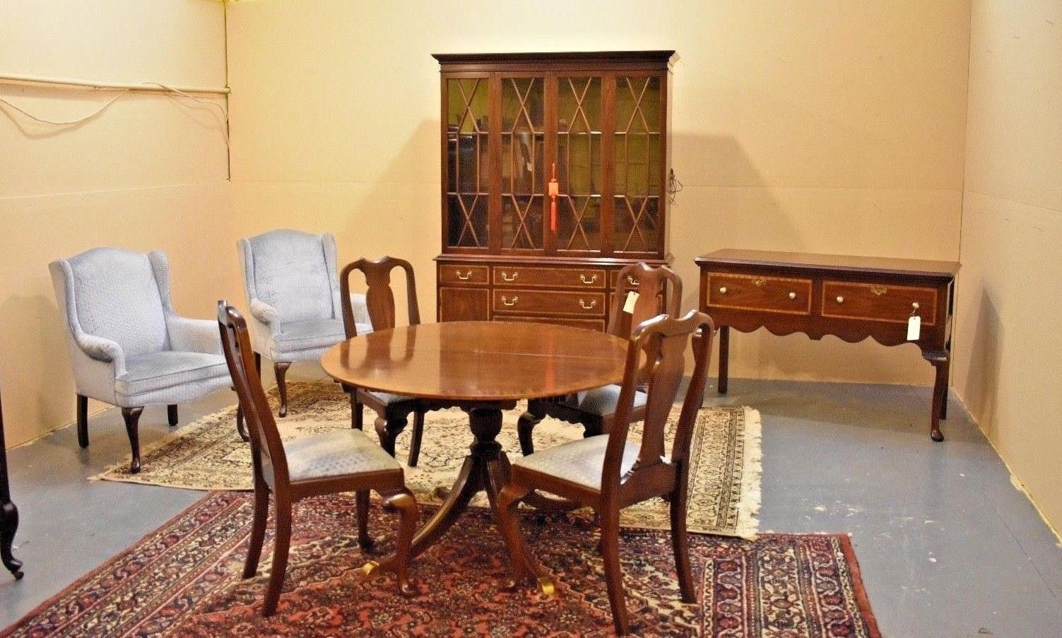 Vintage Mahogany Henkel Harris Dining Room Set