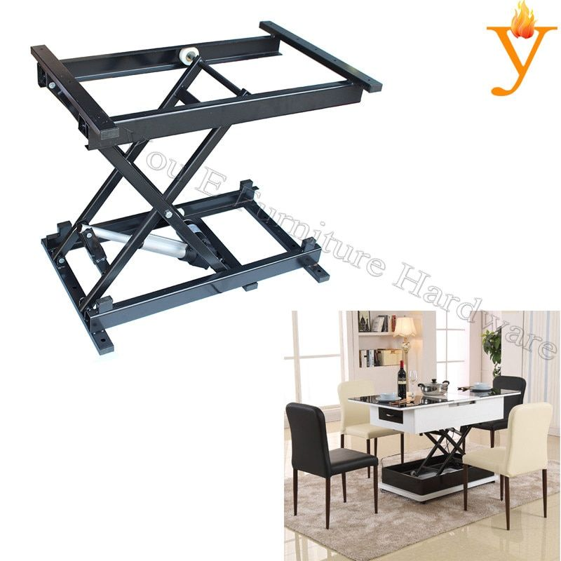 Functional Coffee Table Dining Folding Table Mechanism With Electric Motor Rise And Down Smooth Furniture Furniture Hinges Coffee Table Hinges