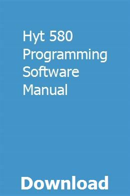 Hyt 580 Programming Software Manual pdf download #programingsoftware