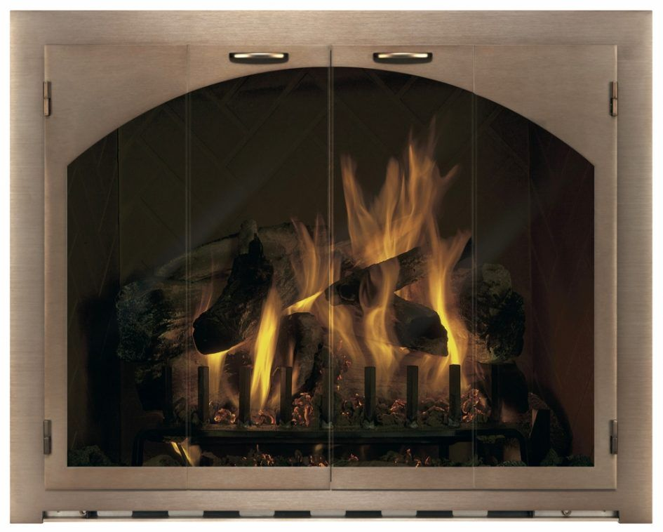 Furniture Inspiring Glass Fireplace Doors For Wood Burning With