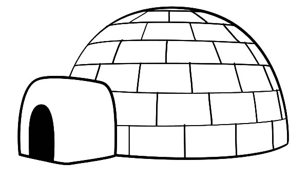 Drawing An Igloo Coloring Pages Bulk Color In 2020 Igloo Drawing Coloring Pages Fruit Coloring Pages