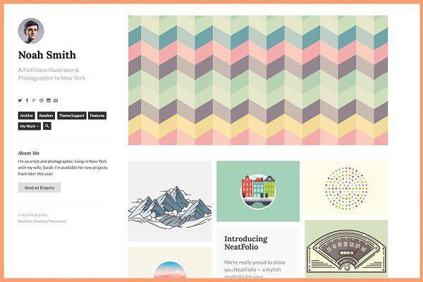 neatfolio tumblr theme by themelantic on creativemarket