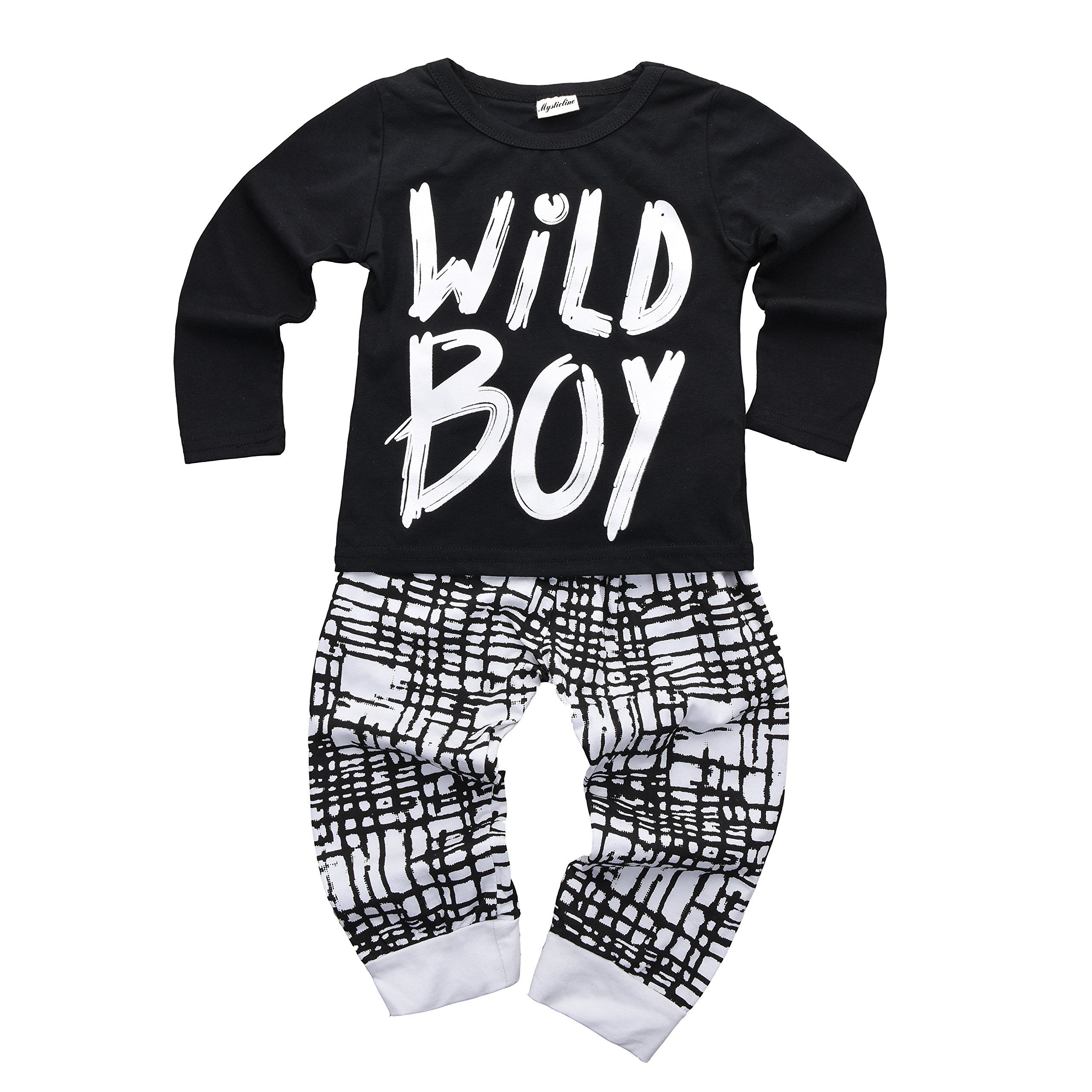 Baby Boys Clothes Set Short Sleeve Wild Boy Tshirt Pants Outfit Winter Spring Black 6 12 Months Tag Size 80 You Baby Boy Outfits Baby Boy Pants Boy Outfits