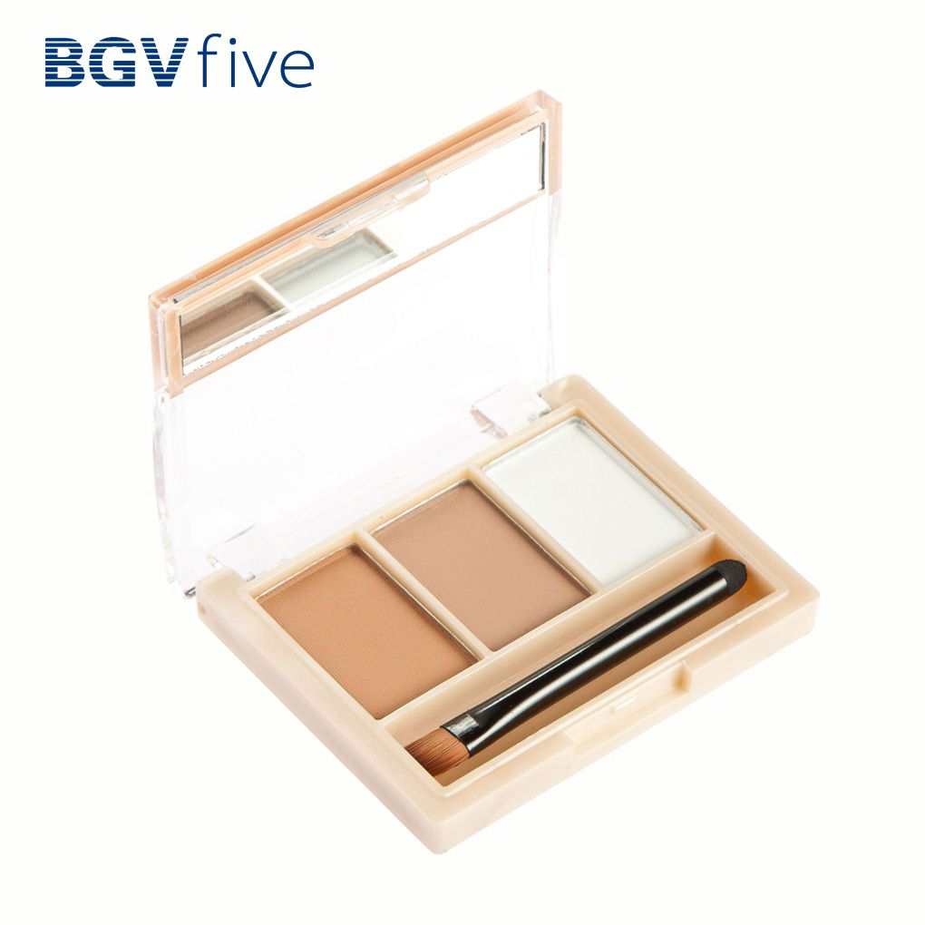 Natural 3 Colors Eyebrow Cake Powder Palette with Brush ...