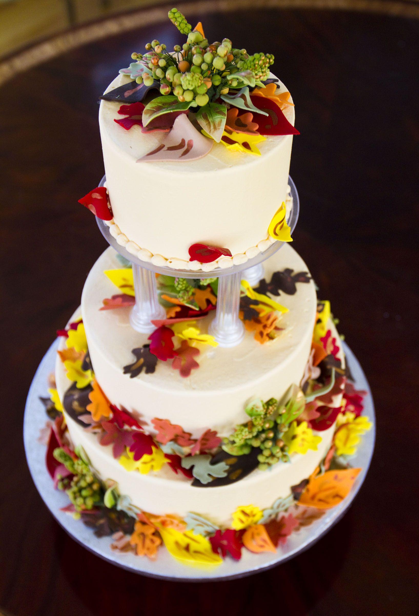 The Perfect Fall Wedding Cake Autumn