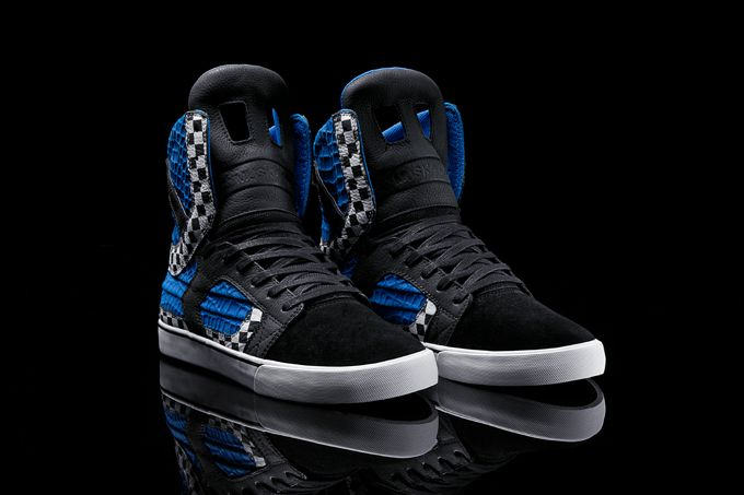 A collaboration between Chad Muska and Steve Aoki, SUPRA presents the  limited edition Skytop II