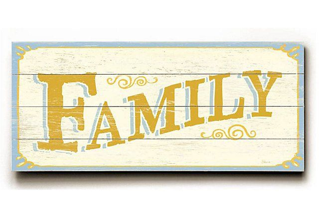 Family Wood Sign | Signs of Character | One Kings Lane