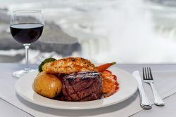 skylon tower revolving dining room restaurant in niagara falls rh pinterest com