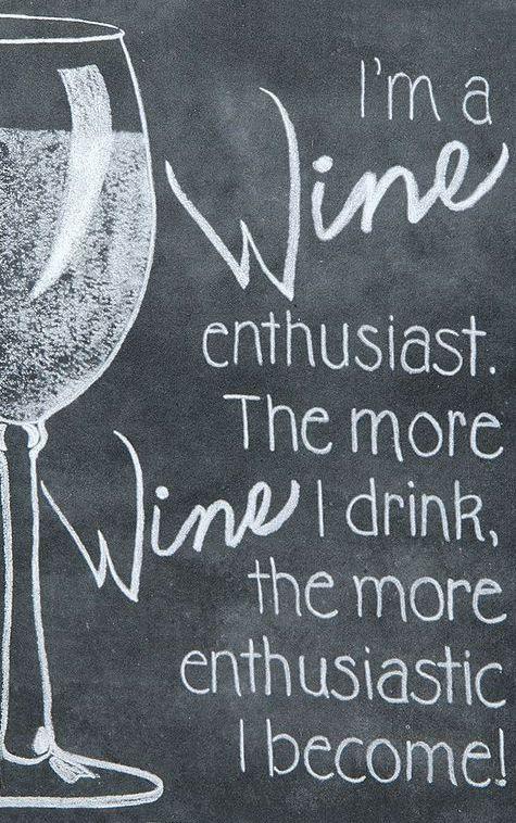 Wine Enthusiast Chalkboard Sign Cytaty Wina