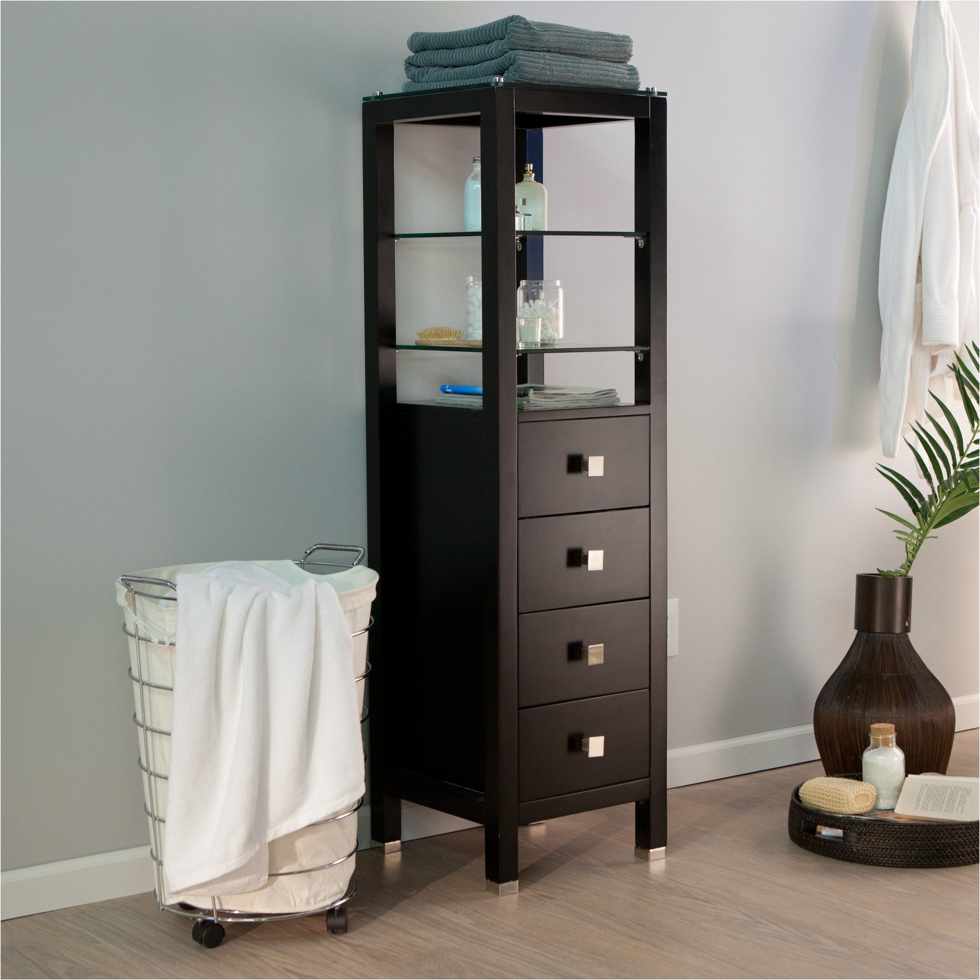 Tall Skinny Bathroom Storage Cabinet Best Home Furniture From Cabinets With Drawers