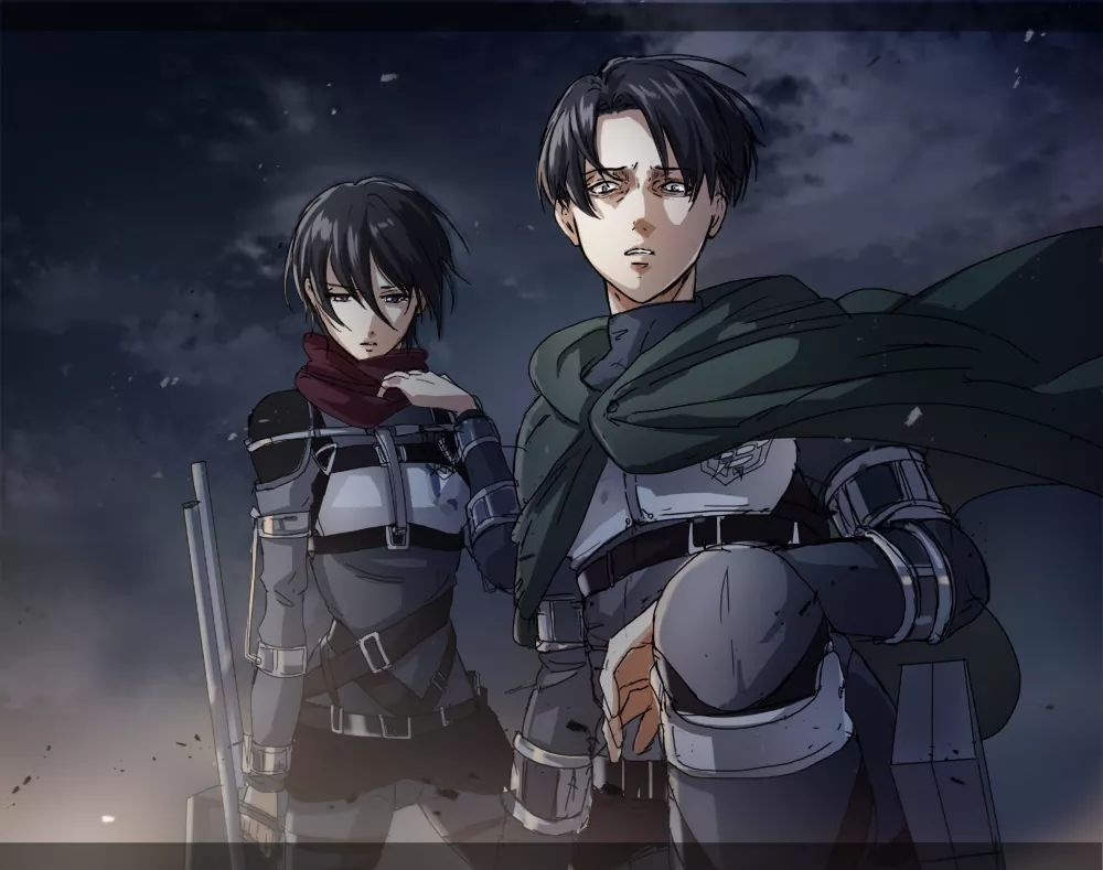Mikasa and Levi. Shingeki no Kyojin. Season 3. | Livai ...