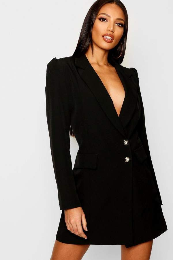 afcd89c0269e boohoo Volume Sleeve Blazer Dress | boohoo Day Dresses | Blazer ...