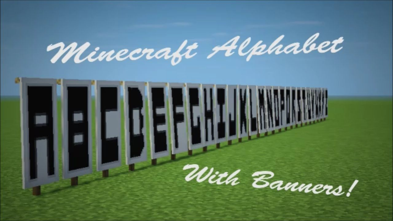 Minecraft Banner Letters Minecraft banners, Minecraft