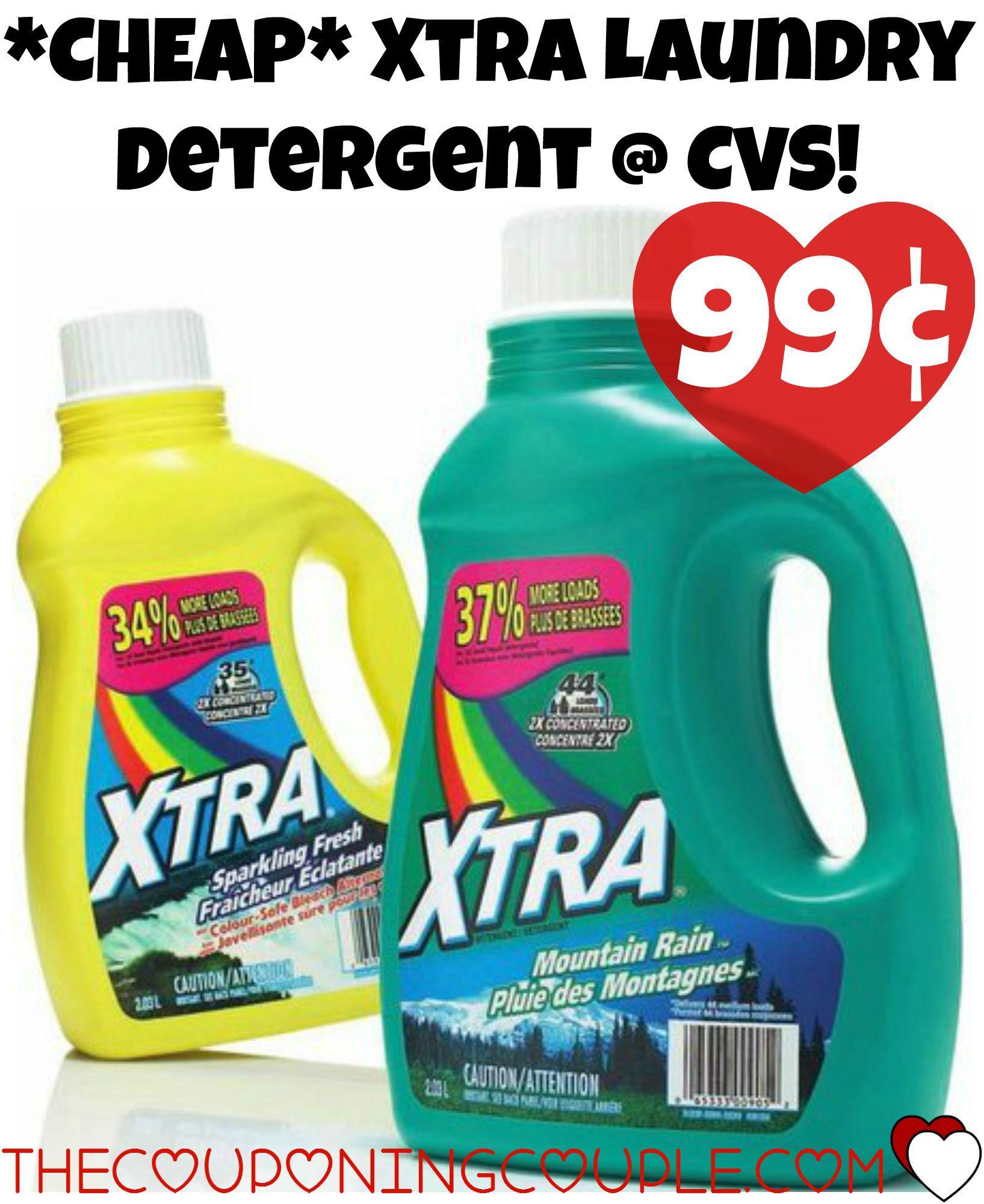 Cheap Xtra Laundry Detergent Cvs Just 0 99 Xtra Detergent