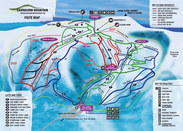 Cairngorm Piste Map Piste Map | Scotland Things | Cairngorms, Scotland, Mountains Cairngorm Piste Map