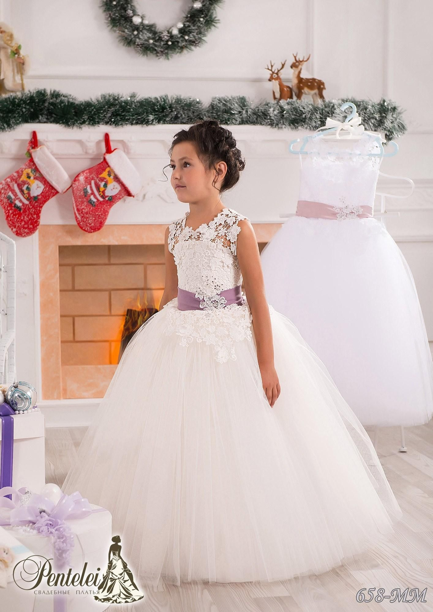 Flower Girl Dress Weddings Ball Gown Pageant Gown First Communion Party Princess
