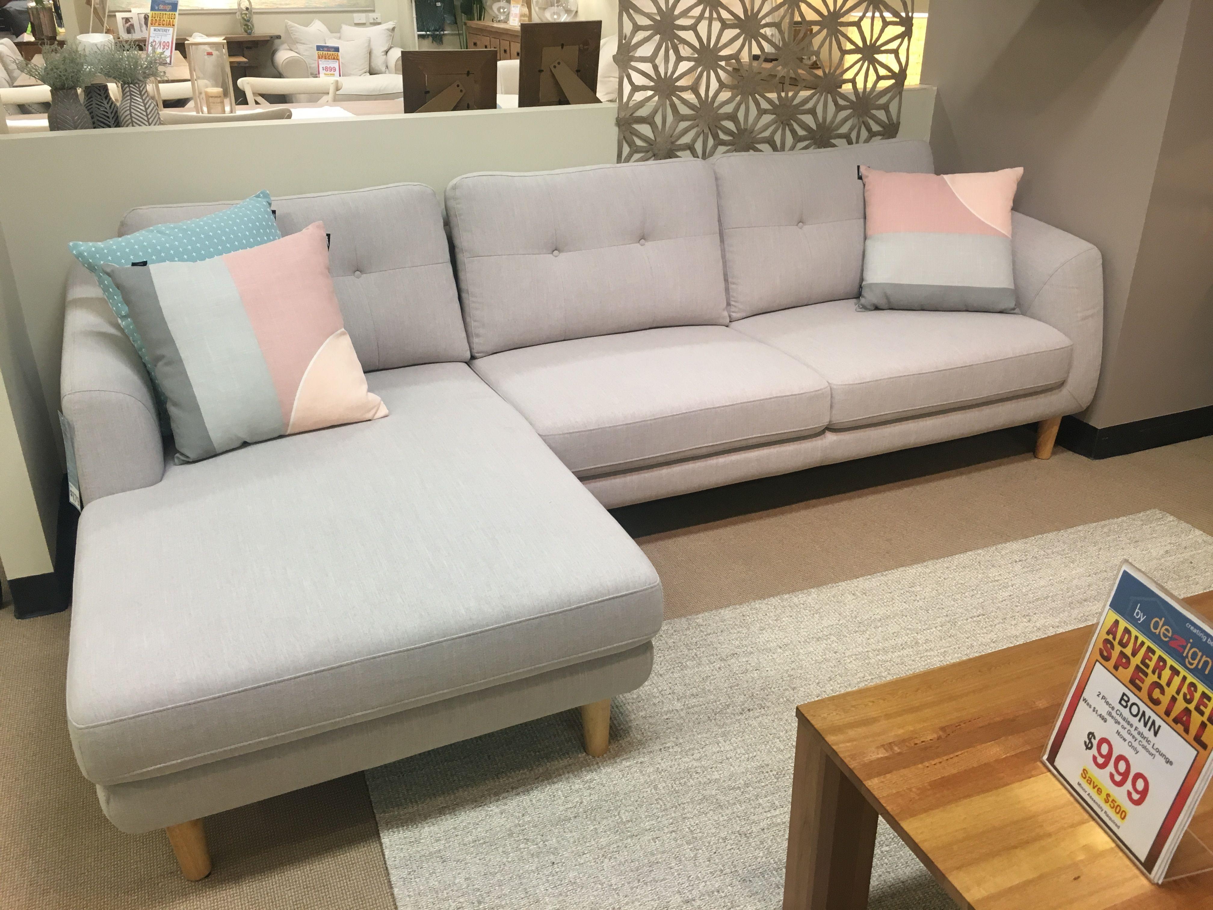 Oz Design Bonn Sofa Chaise Living Dining Room Furniture Chaise Sofa