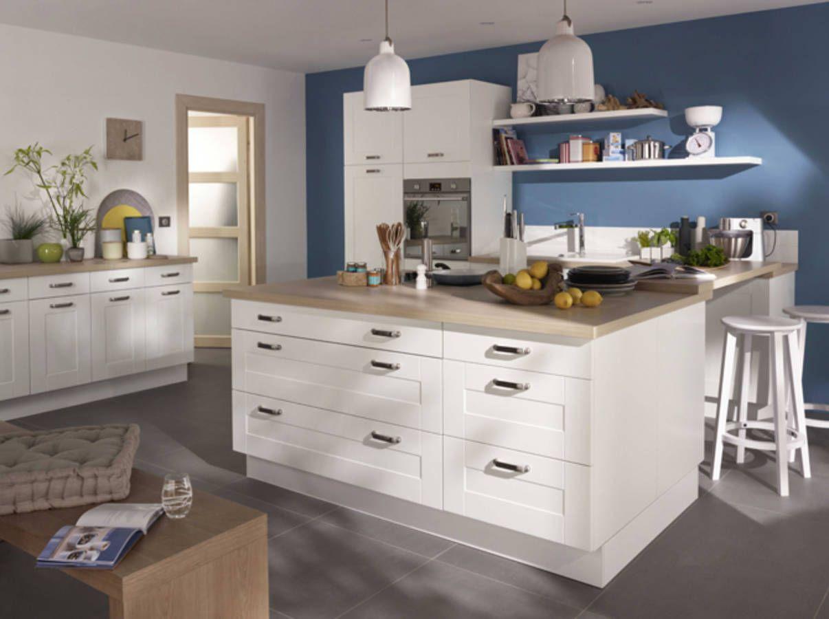 Ilot de cuisine plan de travail id es futur maison for Plan de travail ilot de cuisine