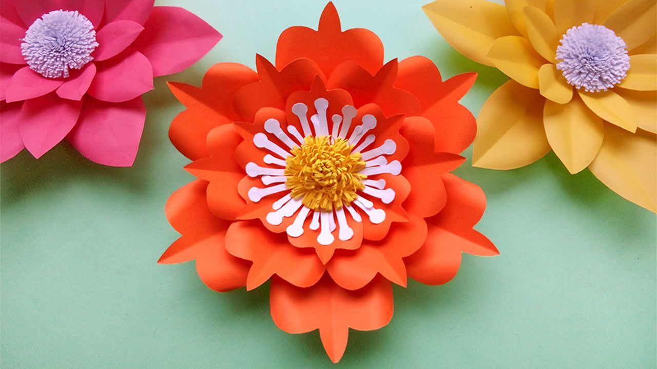Pin By Mooshi On Paper Crafts Ideas Simple Paper Flower Paper