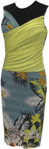 """""""Margarita & Daisy"""" Sleeveless dress from Petit Pois. Mesh lined sleeveless combo draped dress. $200"""