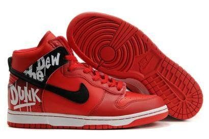 new styles 50a37 2c715 Nike Dunk High Do The Dew Red Label Art Event   Nike Dunk High Shoes ...