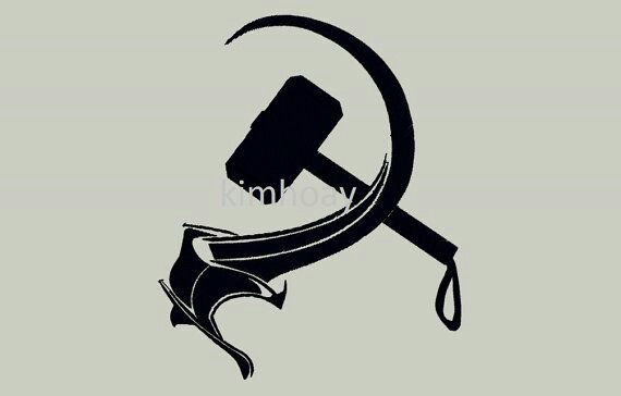 Thor Hammer And Sickle Tattoo