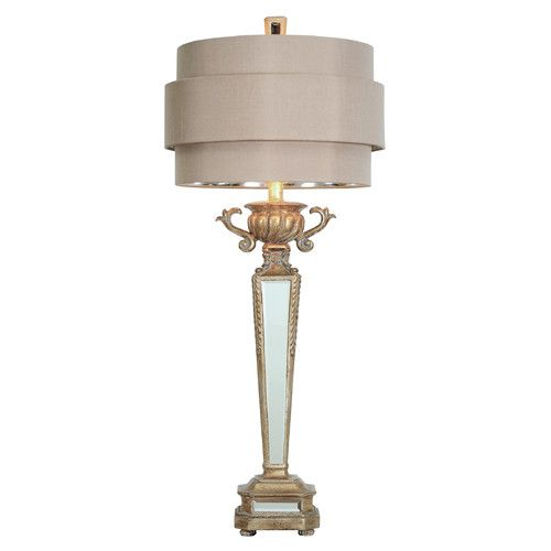Found it at wayfair shimmering silver deco 33 table lamp
