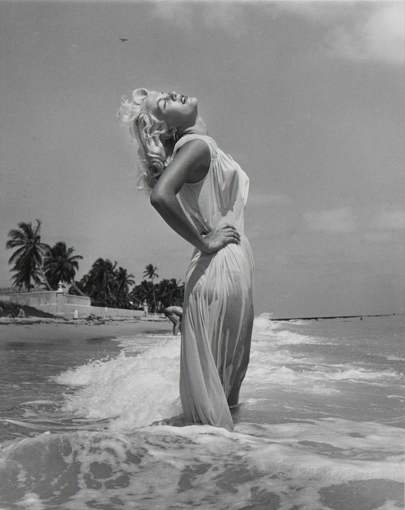 Photo of model Sandy Fulton by Florida pinup photographer Bunny Yeager, 1954 (often misidentified as Marilyn Monroe)