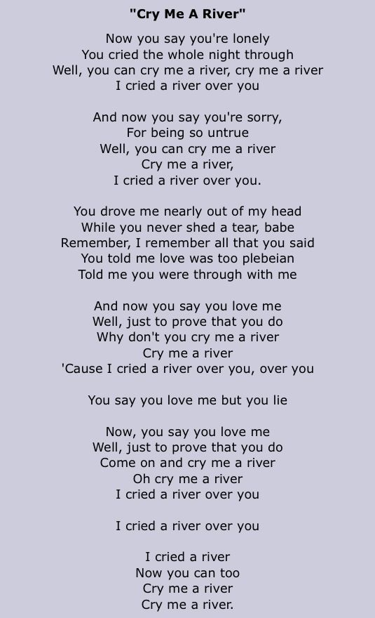 CRY ME A RIVER MICHAEL BUBLE EBOOK DOWNLOAD