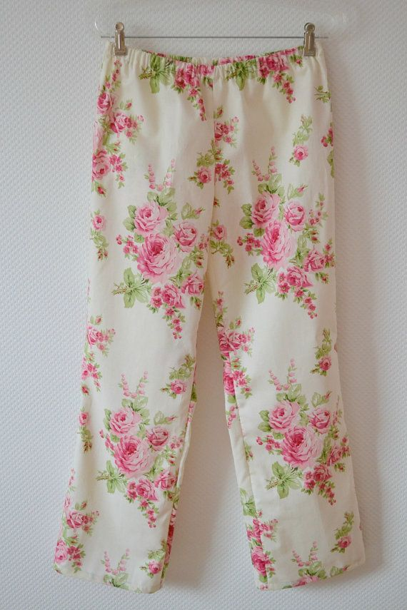 romantic shabby chic pajama pants size medium womens pajamas long rh pinterest com Shabby Chic Party TJ Maxx Pajamas Shabby Chic