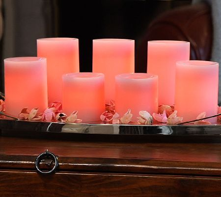 Qvc Flameless Candles Best Candle Impressions Classic 7Piece Flameless Candle Set  Flameless 2018