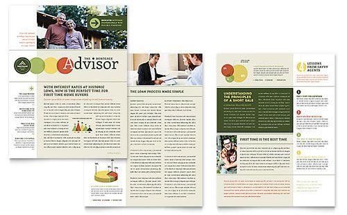 Mortgage Broker Newsletter Template bulletin Newsletter design