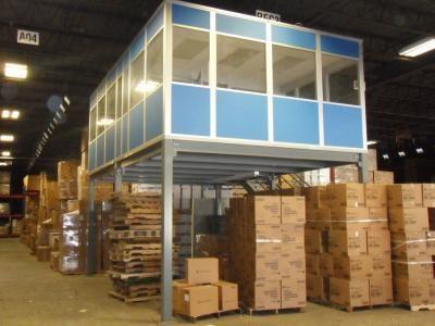 warehouse mezzanine modular office. Modular Building And Mezzanine Maximize Space Inside This Warehouse Office