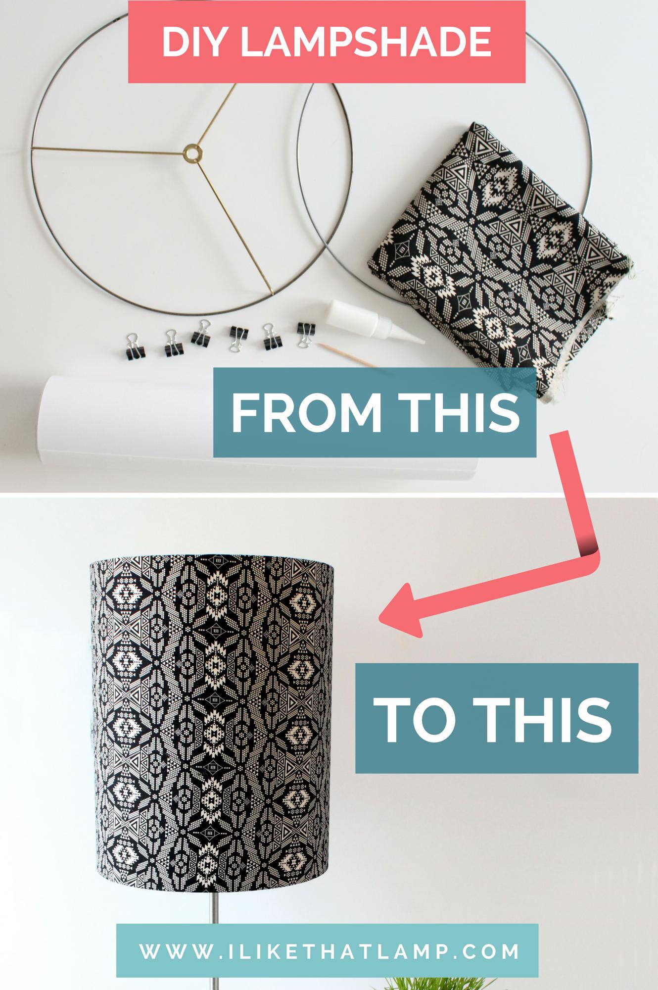 Diy Lampshade Idea Use A Tribal Fabric Make It Extra Large