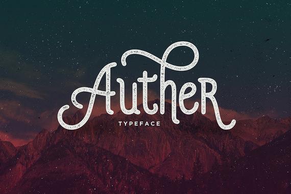 Auther Typeface, Vintage Font, Monoline Font, Display Font, Classic
