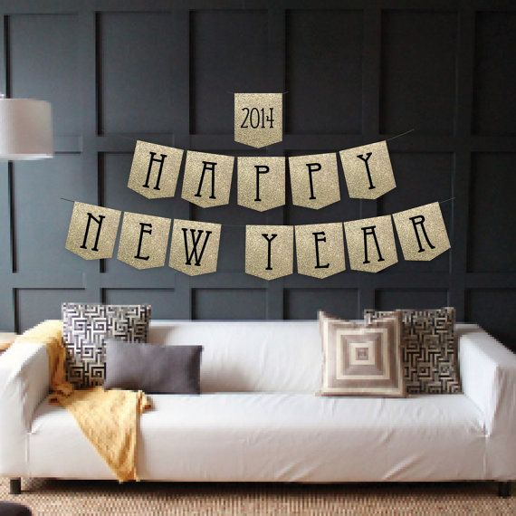 instant download happy new year banner new years eve banner new years banner diy printable banner